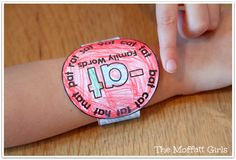 CVC Word Family Watches- These wearable watches help build fluency in beginning readers in a fun way!