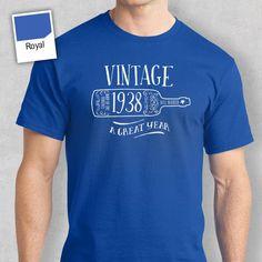 Men's Birthday T Shirt Gift - Vintage Wine Bottle Love T Shirt, Shirt Style, 20th Birthday Presents, T Shorts, Birthday Design, Birthday Shirts, Vintage, 85th Birthday, Happy Birthday