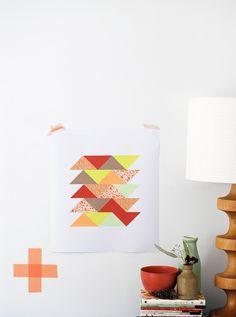 DIY Make Me: Paper Patchwork Art http://decor8blog.com/2013/06/18/make-me-paper-patchwork-art/