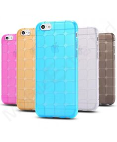New Luxury Shockproof Silicone / Gel / Rubber Cube Model Phone Back Case Cover for Apple iPhone 5C