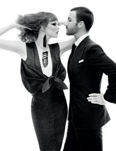 """Tom Ford and Karen Elson in """"Mr.Ford Returns"""" / Photographed by Steven Meisel / For Vogue December 2010 Steven Meisel, Karen Elson, Tom Ford, Vogue Us, Vogue Korea, Vogue Photo, Betty Catroux, Ysl, Look Fashion"""