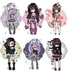 Adoptables ::CLOSED:: by KimmyPeaches on DeviantArt