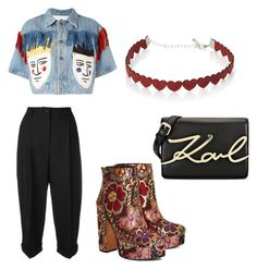 """""""Untitled #217"""" by ninaellie on Polyvore featuring JC de Castelbajac, Shellys, Karl Lagerfeld, Simons and Dolce&Gabbana"""