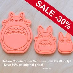Hey, I found this really awesome Etsy listing at https://www.etsy.com/ca/listing/217645000/totoro-chu-chibi-cookie-cutters