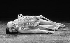 Marina Abramovic with a skeleton. http://www.dazeddigital.com/artsandculture/article/16842/1/the-da-zed-guide-to-marina-abramovic