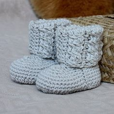 Free Crochet Pattern - Baby Moccasins from the Baby booties and mittens Free Crochet Patterns Category and Knit Patterns