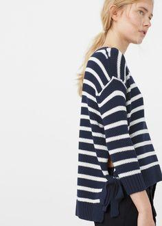 Side slit cotton-blend sweater | MANGO
