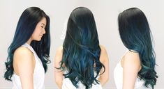 Searching around for the perfect hair salon is hard. Balayage hair is tricky to master. Here's how I found my salon and the technique they used to dye Dark Teal Hair, Hair Color Blue, Ombre Hair, Balayage Hair, Haircolor, Halo Hair, Dye My Hair, Hair Studio, Hair Looks