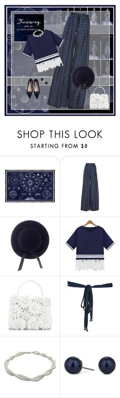 """Celestial in Navy & White"" by halebugg ❤ liked on Polyvore featuring Universal Lighting and Decor, Junya Watanabe, Martin Grant, Miu Miu, Nancy Gonzalez, NEXTE Jewelry, Betty Jackson, Kate Spade, classic and blueandwhite"