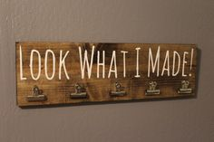 Look What I Made Brag Board by BoardMamaCo on Etsy