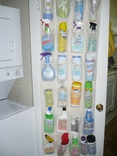 This is a great idea to store scarves while still being able to see them all.