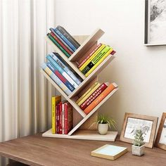 Shelves Pallet Tolland 3 Tier Shelf Display Ladder Bookcase - The open layer design of this shelving storage cabinet makes it ideal for small items, such as toys, pens, plants. The design makes it good decoration. Bookshelf Design, Bookcase Shelves, Display Shelves, Ladder Bookcase, Small Bookshelf, Bookshelf Ideas, Bookcases, Bookcase Decorating, Creative Bookshelves