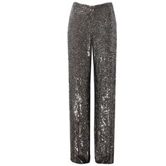 Alexis Ariette Pant ($1,260) ❤ liked on Polyvore featuring pants, silver pants, sequin trousers, alexis pants, cut loose pants and loose pants