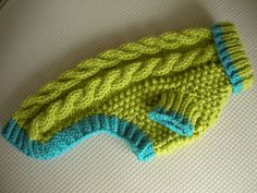 Dog Sweater - Cable Knit - Apple Green - Small - Ready to Ship. $30.00, via Etsy.