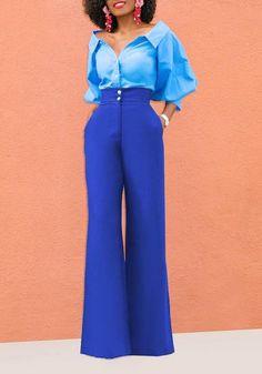 0c84287b8c3 7xl 9xl Plus Size Work Wear Trousers For Women Korean Dress Bell Bottom  Pants High Waist Wide Leg Pants Ladies Slacks Black