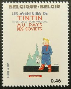 13568 Framed Postage Stamp Art Tintin in by PassionGiftStampArt, $12.90