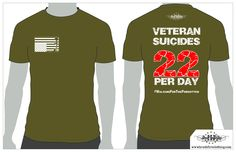 This shirt was created to help bring awareness to the problem of 22 veterans a day committing suicide. One dollar from the sale of these shirts goes to usmvfoundation.org