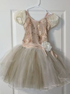 From This Moment. Buy on consignment and dave your money. This ballet costume was worn three times and is in pefect condition. Organza Flowers, Ballet Tutu, Ballet Costumes, Hair Pieces, Leotards, Off The Shoulder, Tulle, Sequins, Times