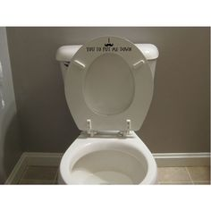 Funny Mustache Toilet Seat Decal Sticker Put by StickemUpCustoms, $6.50