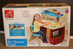 IHeart-Motherhood: Step2 Deluxe Art Master Desk Review and Giveaway #FourIAdore