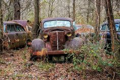 This rusting antique beauty. Has seen better days... Old Car CityWhite Georgia by erinkate25 Transportation Photography #InfluentialLime