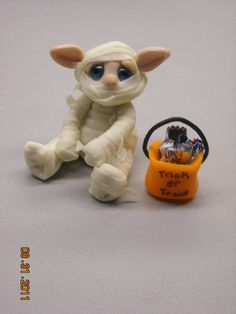OOAK Handmade Polymer Clay Glow in the Dark  by Woodlandkreatures, $28.00
