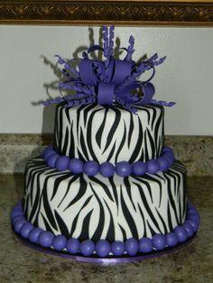 20 Purple zebra print cake ideas... My wedding cake Ayye