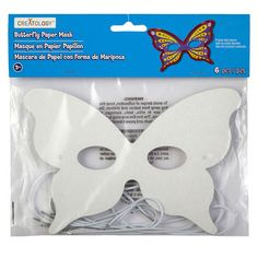 <div>With this butterfly mask, your child is ready to take flight. Attach the mask to a felt she...