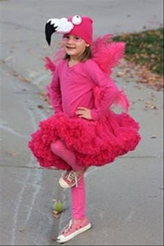 Let's face it. My children are always going to be flamingos because I keep finding adorable kid flamingo costumes for every age child.