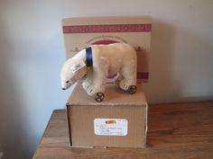 Steiff Club Polar Bear On Wheels 1910 White 22 Replica Box Shipping Box 420177 #Steiff