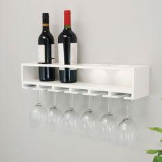 Wine Rack Shelf, Wine Glass Shelf, Wine Glass Rack, Wine Rack Wall, Glass Shelves, Wall Shelves, Wine Racks, Wood Shelf, Pot Racks