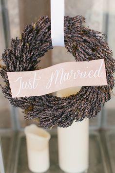 #justmarried #weddingwreath #lavender #wreath
