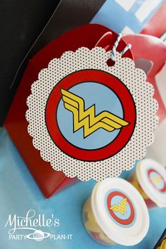 Wonder Woman Party with So Many Awesome Ideas via Kara's Party Ideas | KarasPartyIdeas.com #Superhero #Party #Ideas #Supplies (16)