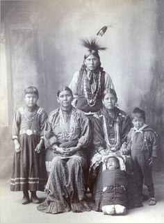 1898 F.A. Rinehart Photograph of Gaganichika family (Kickapoo)
