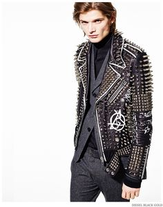 Diesel Embraces Leather & Studs for Pre Fall 2015 Collection image Diesel Black Gold Men Pre Fall 2015 Collection Look Book 007