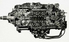 napier sabre engine | napier sabre engine above four banks of six cylinders with