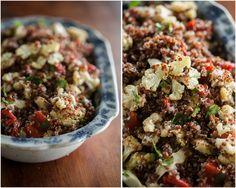 Naturally Ella | Caramelized Cauliflower, Roasted Red Pepper, and Quinoa Salad | Naturally Ella