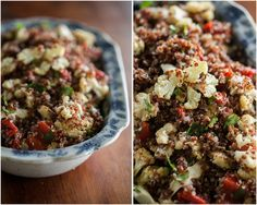 Naturally Ella | Caramelized Cauliflower, Roasted Red Pepper, and Quinoa Salad | Naturally Ella