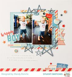 Happy Boy | Stuck?! Sketches Design Team Layout | Cocoa Vanilla Flying High collection | The Cut Shoppe cut file