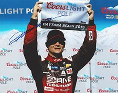 awesome AUTOGRAPHED 2015 Jeff Gordon #24 AARP Drive to End Hunger Racing COORS LIGHT POLE AWARD (Daytona) Signed Picture 8X10 NASCAR Glossy Photo with COA
