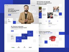 Bob Foley designed by Mateusz Madura for Seahawk Media. Connect with them on Dribbble; the global community for designers and creative professionals. Creer Un Site Web, Minimal Web Design, Design Design, Web Layout, Design Layouts, Website Layout, Ui Web, Responsive Web, Landing Page Design
