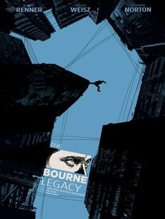 BOURNE LEGACY - Nice! Not sure I like the eyes at the bottom, but more interesting than most cookie-cutter posters these days.