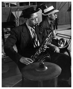 Lester Young by Herman Leonard