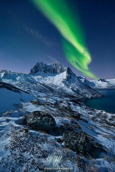 Polar Lightning by Stefan Hefele on 500px--Island of Senja, Norway