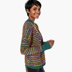 7b04c78a3 Camisola de gola subida em malha grossa multicolor La Redoute Collections