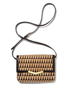 Time's Arrow Affine Small Calf-Hair Shoulder Bag, Black/Tan - Bergdorf Goodman #TAStyle