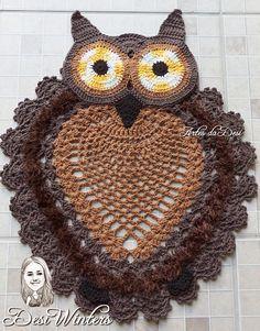Tapete Coruja de crochê Knit Crochet, Crochet Hats, New Things To Learn, Crochet Earrings, Butterfly, Knitting, Fun, Owl Bathroom Set, Owl Bathroom