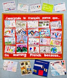 Why learn French? French Classroom Decor, Spanish Classroom, Why Learn French, How To Speak French, French Teaching Resources, Teaching French, School Displays, Classroom Displays, Classroom Ideas