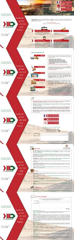 Web site www.hichamdemenagements.com, your moving between 2 continents. Responsive Web Design, created by Soufiane Benrazzouk, AREXEL. mail@arexel.com