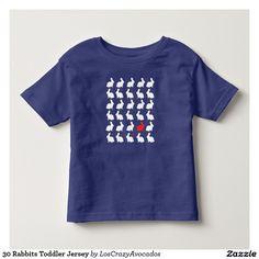 30 Rabbits Toddler Jersey Toddler T-shirt